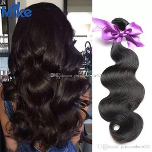 MikeHAIR Brazilian Body Wave Hair Weave 1 Bundle Natural Color Double Weft Cheap Human Hair Extensions Peruvian Indian Malaysian Hair Wefts