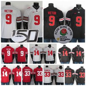 NCAA Staat Ohio-Rosskastanien Jerseys 14 KJ Hill Jersey 9 Binjimen Victor 33 Meister Teague III 1 Justin Felder Fußball-Jersey-nähte 150.
