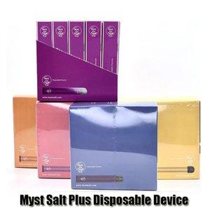 Myst d'origine sel plus dispositif à usage unique Pod Kit 650mAh cartouches de batterie de Vape Vider Pen 1000 Puffs authentiques