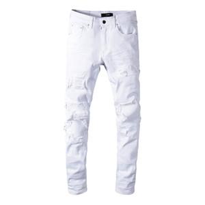 Classico MIRI All'ingrosso Pantaloni bianchi 350 jeans designer pantaloni dritti biker jeans scappatoia skinny uomo donna jeans strappati