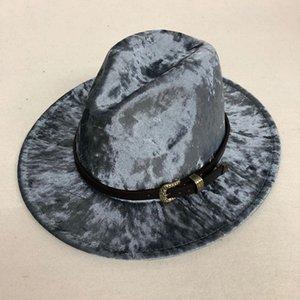 ZJBECHAHMU повседневная Зима Осень имитация шерстяной женщины мужчины дамы фетровые шляпы топ Джаз шляпа европейские американские круглые шапки котелки