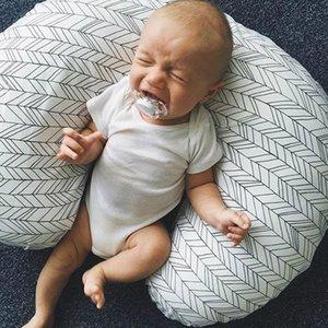 Bebek Çiçek Hemşirelik Yastık Kapak Bebek Sarılın U Şekilli Yastık Araba Kanepe Minder Kapak Çocuklar Besleme Bel Yastık LJJA2272