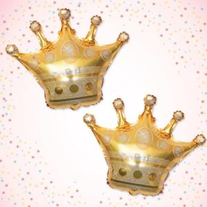DHL 68 * 73CM ballons feuille d'or couronne de princesse de ballon d'hélium couronne pour mariage joyeux anniversaire décoration bébé Fournitures de fête NN