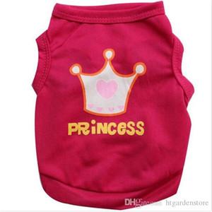 htga CHUN0318 2019 hot B Crown Princess Pet Dog Shirt Small dog t shirt Puppy Cats Vest Dogs Summer Clothes Chihuahua Clothing