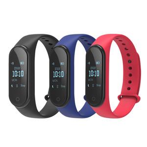 안드로이드에 대한 M4 스마트 시계 추적기 심장 박동 혈압 모니터 남성 여성 스마트 시계 피트니스 Smartband 스마트 시계