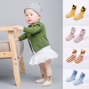New Cute Cartoon Animal Cotton Baby Socks Newborn Socks for Baby Boy Girl 0-24 Months Infant Anti Slip Floor Socks Sokken
