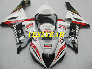 Kit de carenagem da motocicleta para KAWASAKI Ninja ZX6R 636 05 06 ZX 6R 2005 2006 ABS preto branco carenagens carroçaria + presentes KK16