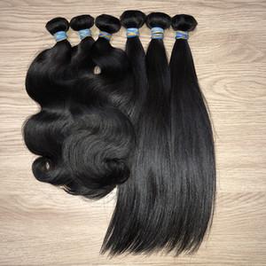 BeautyStarQuality Raw Original Virgin Brazilian Peruvian Full Cuticle Aligned Straight Wave Body Wavy Hair For Wholesale