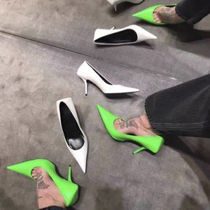 2020 New Spring Green Ladies Pumps Pointed Toe Sexy Thin High Heels Fashion Shallow Pumps Stiletto Party Office Green Shoes Y200702