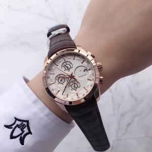 Top qualidade mens relógios cronômetro todos os mostradores trabalhar 42 milímetros de couro mostrador do relógio de moda Genuine para melhor dropshipping relógio de pulso dos homens Dom