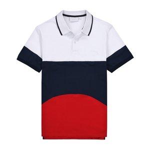 2020 uomini Polo Ralph box logo manica corta collo a righe Stampato Mens Polo casuale dell'adolescente Tees coccodrillo progettista del Mens Polo Lapel