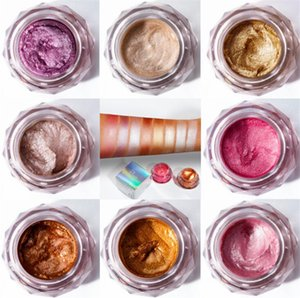 PUDAIER Jelly Gel Highlights Powder Eyeshadow makeup Glitter Pearly Beauty Glazed Shimmer 8 colors Face Body Eye shadow Cream Cosmetics drop