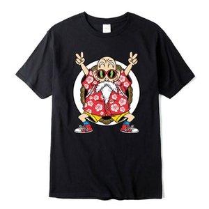 Diseñador de la camiseta del algodón casual de alta calidad de la manera de Dragon Ball Z Goku Imprimir camiseta de los hombres de Harajuku Ropa de la marca camisetas divertidas