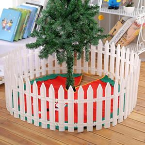 árbol de Navidad árbol de Navidad faldas dobladillo de algodón arpillera material fruncido bordado suministros de Navidad decoración del ornamento partido LXL1038-1