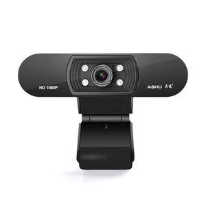 USB 2.0 Cámara Web Digital Webcam ASHU 1080P con micrófono con clip Full HD 1920x1080p 2,0 megapíxeles CMOS de la cámara Web Cam