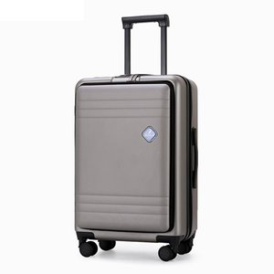 """front opening trolley luggage business suitcase with mezzanine travel for computer notebook 20""""22""""24"""" inch"""