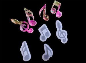 DHL gratuite réutilisables Note musicale Chocolat en silicone Moules bricolage Fabrication de moules Moules à glaçons Fournitures pour Candies Faire Hard Candy Décoration
