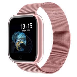 2020 Nouveau Femmes Waterproof Montre intelligente T80 Bluetooth Smartwatch pour Apple iPhone Xiaomi Moniteur de fréquence cardiaque Fitness Tracker