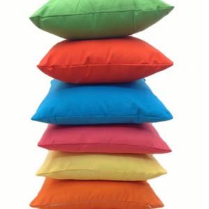 Home Sofa Throw Pillowcase Pure Color Polyester White Pillow Cover Cushion Cover Decor Pillow Case Blank christmas Decor