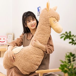 cute cartoon grass mud horse alpaca plush toy big soft alpaca doll sleeping long pillow for girl gift decoration 37inch 95cm DY50837