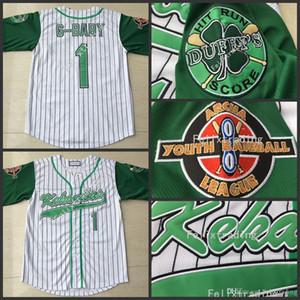 Jarius G-Baby Evans 1 Kekambas Béisbol Jersey incluye parche cosido-Green Hardball Incluye ARCHA remiendo bordado Jerseys