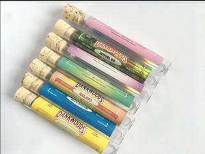 Dankwoods tubo confezione con tappi di legno per 1,0 ml di ceramica Coil intelligenti Carrelli vapore Canotta riempimento Nessuna perdita design