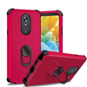 para Samsung A20 A30 A50 Moto G7 Power Coolpad Legacy Funda de silicona móvil para teléfono con CD Kickstand Ring 360 Rotación