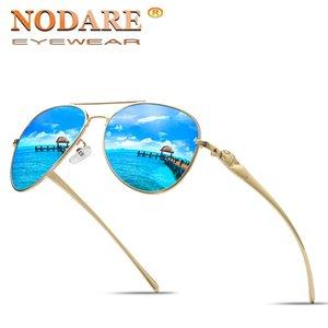 NODARE Marca 2020 Moda Occhiali Da Sole Polarizzati Uomini Ovale Struttura In Metallo Maschio Occhiali Da Sole di guida pesca Eyewear zonnebril heren