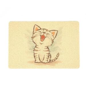 Toptan PVC Pet Kedi Kumu Mat Köpek Kitty Kase Besleme İçme Placemat Sevimli Desen Nefes Uyku Pedi kaymaz Su Geçirmez yatak