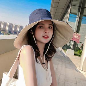 11 Colors Women Beach Fisherman hat big eave cotton linen cloth hat Japanese windshield sunshade folding basin casual versatile sun