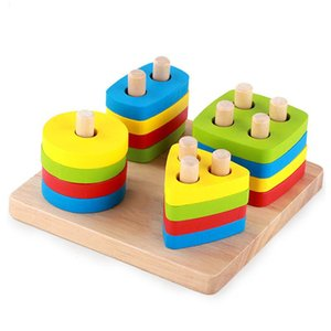Lxhzs Baby Toys Montessori Wooden Geometric Sorting Board Blocks Kids Educational Toys Building Blocks Child Gift Y190606