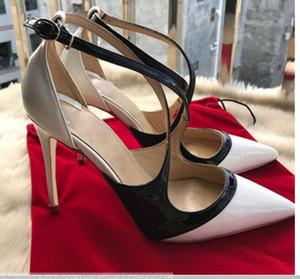 Sandalias blancas Cinturón cruzado. Mujeres. Fondo rojo. Zapatos de tacón alto. 10 cm. Tamaño grande. 45. Cusp. Tacón fino. Zapatos individuales. Club nocturno. Vestido de novia.