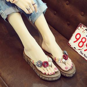 Zapatillas de vacaciones de flip-flops de vacaciones moda de verano nuevo desgaste de zapatos de playa con soles gruesas