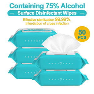 US Ship 50pcs bag 75% Alcohol Antiseptic Cleanser Portable Antiseptic Pads Swabs Wet Wipes Skin Care Wipes