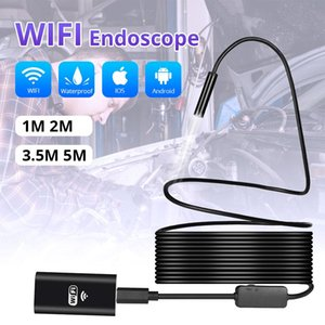 Camera endoscópio endoscópio Inspeção iPhone Android sem fio 1m 3m 5m WiFi 1200P HD 8 milímetros Endoscope Camera Wifi Exterior USB