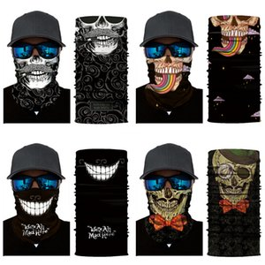 Outdoor Usa Flag Magic Headskull Scarf Bandana Cycling Masks Head Neck Scarves Windproof Sport Face Mask With Filter Designer Printed Mas#808