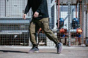 Kargo Pantolon Gündelik Gevşek Kaykay Giyim Pantolon Pantalones Çoklu TKPA Mens Tasarımcısı Cepler