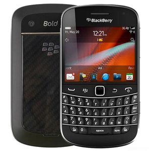 تم تجديده الأصل بلاك بيري بولد تاتش 9900 2.8 بوصة 8GB ROM كاميرا 5MP شاشة تعمل باللمس + QWERTY لوحة المفاتيح الجيل الثالث 3G الذكية هاتف المحمول DHL محفظة 5pcs