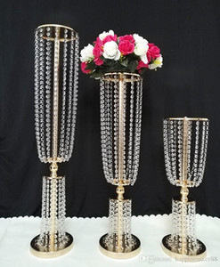 6pcs 80 سم tall acrylic crystal wedding road lead wedding center party event decoration/ event party decoration for table
