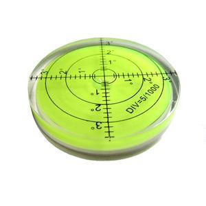 Alta precisão bolha horizontal Caixa de Acrílico Bullseye Espírito Nível de Superfície Da Bolha Inclinômetros Rodada para Instrumentos de Levantamento 60mm
