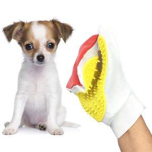 Silicone Panno Cani pennello guanto governare Animali Gatti pettine dei capelli Self Cleaning di rimozione dell'animale domestico Guanto di capelli adatto per principianti.