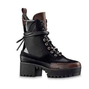 Martin Boots Зимний грубый каблук женская обувь пустынные ботинки 100% кожаные фламинго любят стрелка медаль сапоги на высоких каблуках Большой размер 4-41-42