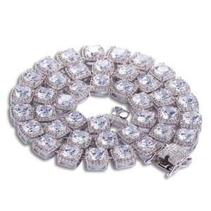 Ice Out Hommes Hiphop Ensemble De Bijoux Collier De Diamants Plaqué Or Bracelet Designer Chaînes Hip Hop Bracelets Pour Hommes