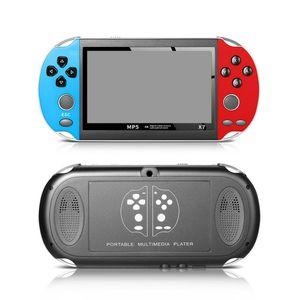 X7 mano consola de 4,3 pulgadas de pantalla Reproductor MP5 Video Juegos X7 Plus SUP retro 8 GB Soporte para salida de TV del juego de vídeo de reproducción de música E-libro