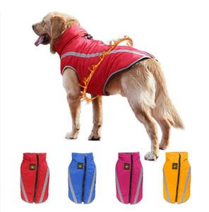 2019 عاكس الكلب الملابس معطف جاكيتات الشتاء الربيع للماء الملابس الدافئة الحيوانات الأليفة سترة معطف الكلب الملابس ل متوسط كبير الكلاب XL-6XL