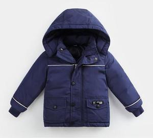 Kanada Kinder Gänsedaunenjacke Jungen Baumwolle gepolsterter Mantel Mädchen warme Kapuzenpullis Sportliche Outdoor-Bekleidung für Kinder