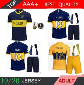 2019 2020 DE ROSSI Boca Juniors kit adulto camisetas de fútbol 19 20 Local lejos MARCONE 19/20 PAVON BENEDETTO 10 TEVEZ hombres establece camisetas de fútbol