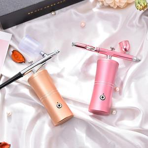 Ménage instrument de remplissage d'eau nano main instrument d'injection portatif d'oxygène à haute pression pulvérisateur portable instrument de beauté du visage