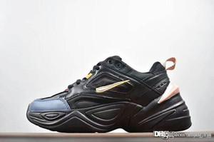 2018 Yeni Monarch IV 4 M2K Tekno Eğitmenler Tasarımcı Moda Eski Baba Ayakkabı Pembe Köpük Zapatillas Kalite Erkekler Kadınlar Klasik Sneakers Boyut 36-44