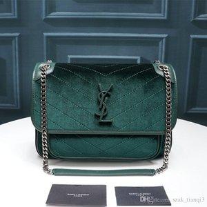 2020 дизайнерская роскошная сумка дизайнерская сумка через плечо женская сумка металлическая цепочка бархат и воловья кисточка украшения модель: 262150-0